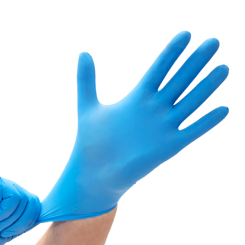 "EXAMINATION GLOVES, NITRILE POWDER-FREE, LOW DERMA™, MEDISCA SAFE-SENSE™ (L - 9"" - 5 mil)"