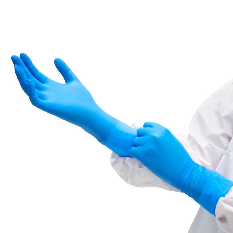 "EXAMINATION GLOVES, NITRILE POWDER-FREE, MEDISCA SAFE-SENSE™ (S - 12"" - 5 mil)"