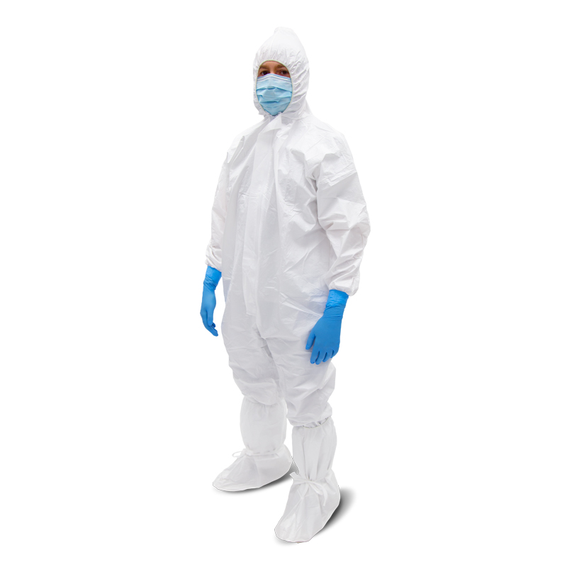 COVERALL W/HOOD, LARGE, MEDISCA SAFE-SENSE™