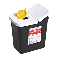 RCRA HAZARDOUS WASTE CONTAINER, SHARPSAFETY (2 Gallon)