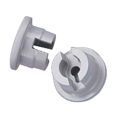 STOPPER w/PRONGS (Gray, 13 mm, 2 Prongs)